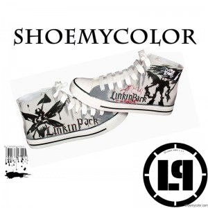 Follow the Icon Fashion -- Linkin Park Hand Painted Canvas Shoes