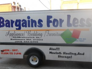 APPLIANCES/BEDDING/FURNITURE/MOVING/HAULING