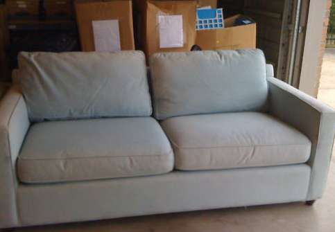 Crate U0026 Barrel Ice Blue Sofa