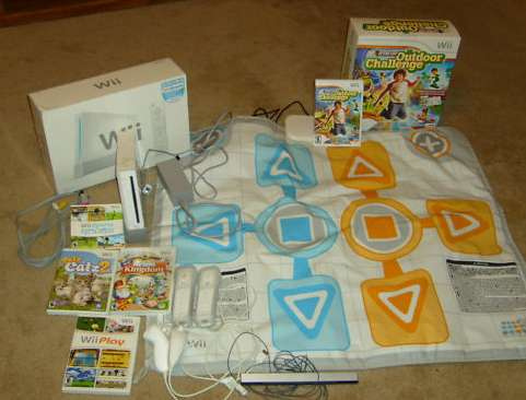 Wii console, Games and Game pad