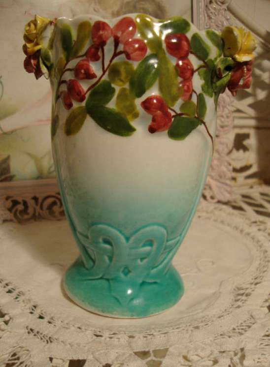 Antique Italian Hand Painted Vase
