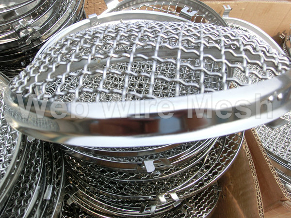 Heavy duty chrome plated wire mesh stone guards