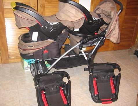 Duo Stroller With Car Seat The Stroller And The Car Seats