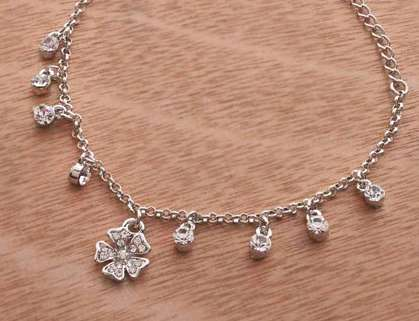 Anklet with Rhinestones