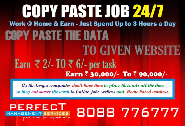 Without Registration Work From Home copy paste job
