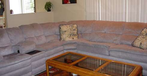 Sectional Sofa and Tables