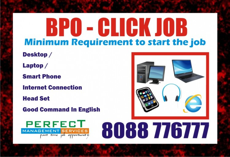 BPO Click Job Daily Income Rs. 1000/- | Work through Smart Phone