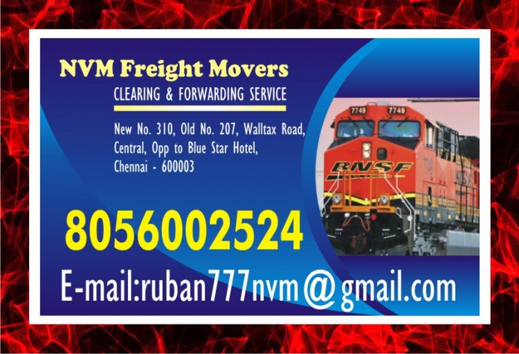top nvm freight packers and movers at rs 7/- kg only.