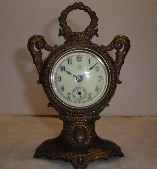 Antique Bronze Shelf Clock