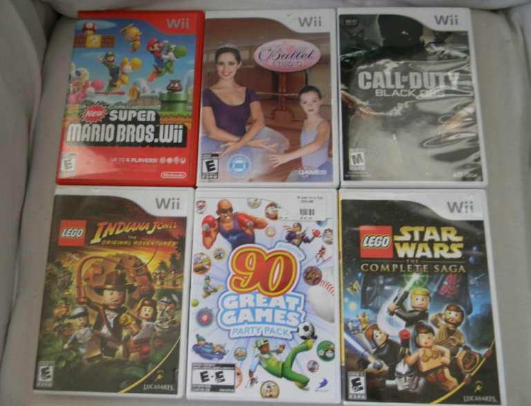 Nintendo Wii 6 Game Lot